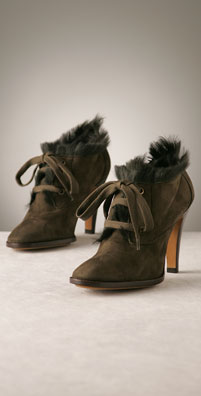 Moschino Cheap & Chic Shoes Lace-Up Fur Lined Ankle Boot