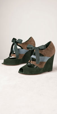 Moschino Cheap and Chic Shoes Suede Tricolor Wedge - shopbop.com from shopbop.com
