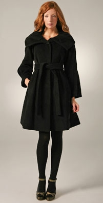 Rebecca Taylor Rolled Neck Coat