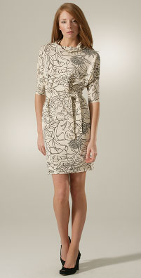 Rachel Pally Print Drape Front Dolman Dress