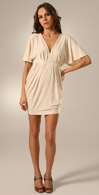 Rachel Pally V Neck Side Drape Dress