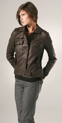 Seven Jeans Leather Cadet Jacket