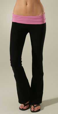 So Low Jersey Colorblock Foldover Pant
