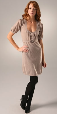 Susana Monaco Scoop Gather Sweater Dress