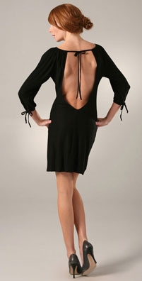 T-Bags Solid Open Back Dress