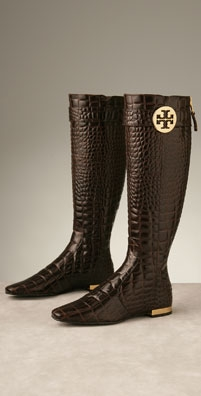 Tory Burch Shoes Uma Croco Logo Boot