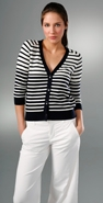Vince Irregular Stripe Cardigan coupon