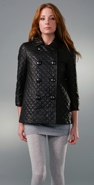 Vince Quilted Leather Pea Coat coupon