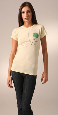 ZOOEY and Love & Eight 'LOVE' Earth Tee - shopbop.com