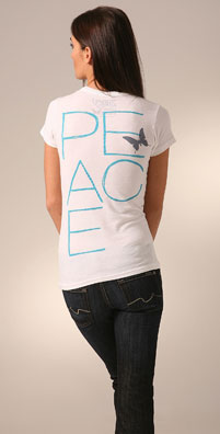ZOOEY and Love & Eight 'PEACE' Tee - shopbop.com