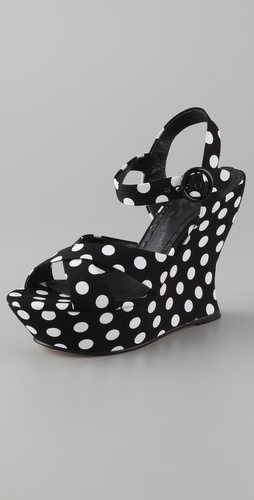 Alice + Olivia Juliet Platform Wedge Sandals
