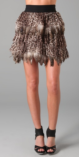 Alice + Olivia Kae Feather Skirt
