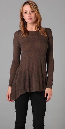 Alice + Olivia Long Sleeve Scoop Back Tee