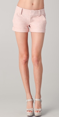 Buy Alice + Olivia Leather Cady Cuff Shorts Online Fashion Shop