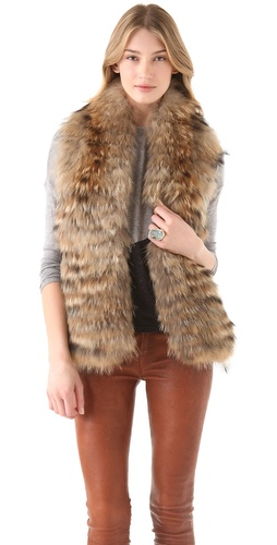 alice olivia Azura Reversible Fur Vest from waitpayment.com