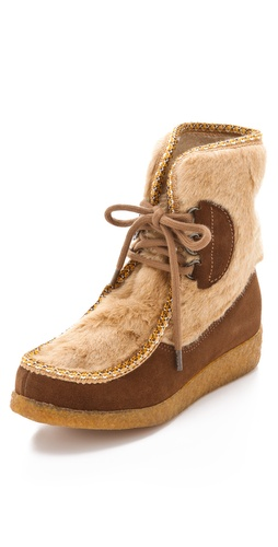 Buy A.P.C Suede Moccasin Booties - A.P.C online - Footwear, Womens, Footwear, Flats, at Heel Addict Online Shoe Shop