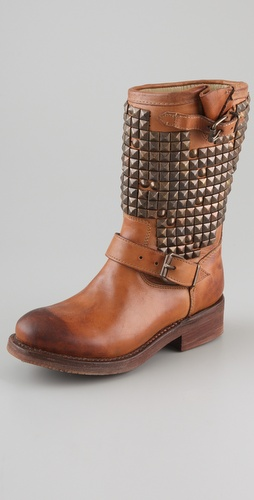 Ash Trash Studded Flat Boots