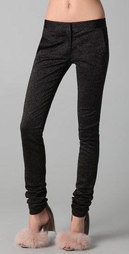 Buy Alexander Wang Drainpipe Metallic Skinny Pants Online Fashion Shop