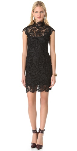 Blaque Label Short Sleeve Lace Dress