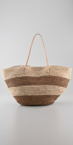 Bop Basics Classic Straw Beach Tote