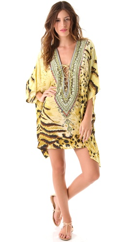 buy Camilla Safari Tiger Lace Up Caftan by Camilla online swimsuits shop