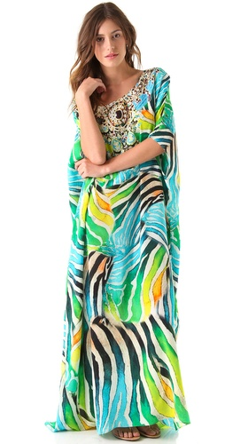 buy Camilla Tropical Zebra Caftan by Camilla online swimsuits shop