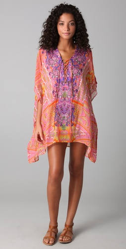 buy Camilla Poco Short Lace Up Caftan by Camilla online swimsuits shop