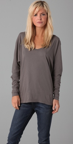 C &amp; C California Long Sleeve Twist Dolman Top