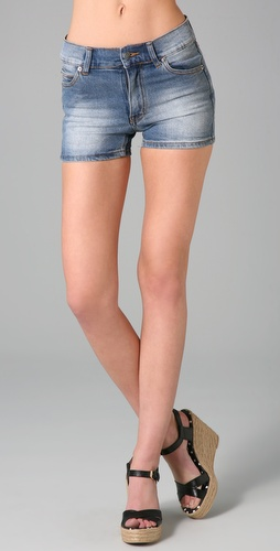 Cheap Monday Washed Denim Shorts
