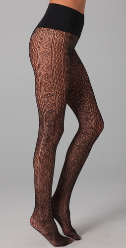 Commando Lace Stripe Tights