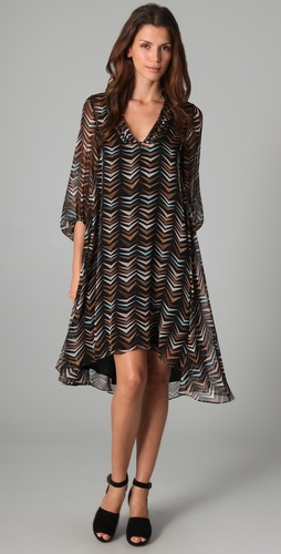 Diane von Furstenberg Kipling Long Sleeve Dress