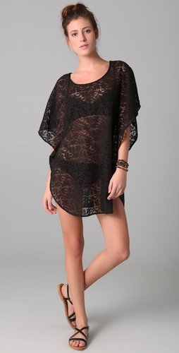 buy Eberjey Hannah Crochet Chic Poncho Cover Up by Eberjey online swimsuits shop