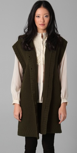 EDUN Button Down Sweater Vest