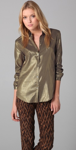 Elizabeth and James Lauren Metallic Blouse