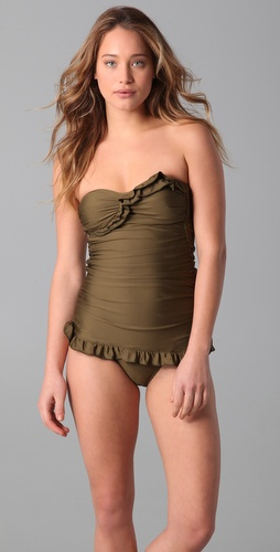 buy Ella Moss Solid Vintage Maillot by Ella Moss online swimsuits shop