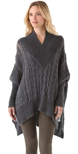 Feel The Piece V Neck Poncho from waitpayment.com