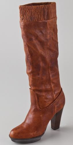 Frye Mimi Scrunch Platform Boots