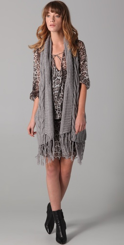 Haute Hippie Luxe Vest with Fringe