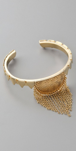 House of Harlow 1960 Tasseled Crescent Cuff