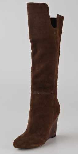 House of Harlow 1960 Sillia Suede Wedge Boots