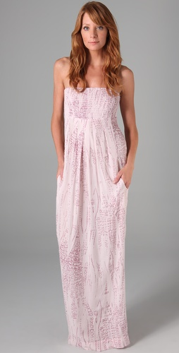 Monrow Lizzy Print Maxi Dress