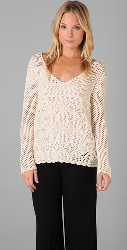 Indah Eve Open Work Sweater