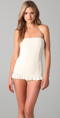buy Juicy Couture Starlet Smocked Bandeau Swimdress by Juicy Couture online swimsuits shop