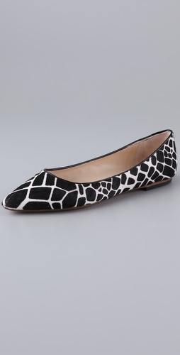 KORS Michael Kors Odin Haircalf Pointed Toe Flats
