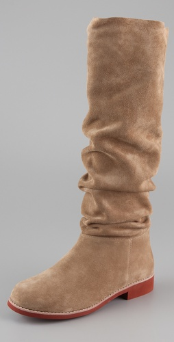 KORS Michael Kors Nanette Suede Flat Boots