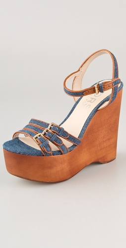 KORS Michael Kors Jacinda Denim Wedge Sandals