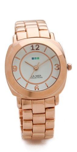 professional womens Rose gold watch under $100 La Mer Collections Mini Odyssey Watch