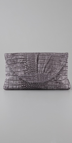 Lauren Merkin Handbags Ava Weathered Croco Clutch