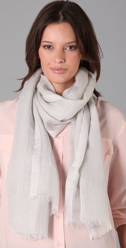 Love Quotes Linen Eyelash Scarf