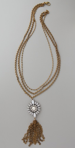 Lulu Frost Navette Tassel Necklace